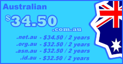 Australian Domain Names from $18.00 per year